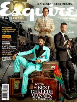 3x Esquire € 17,-: Esquire is het enige lifestyle blad voor de intelligente Nederlandse man met gevoel voor stijl, humor en inhoud. Met iedere maand bijdragen van de beste auteurs en fotografie van internationale allure.