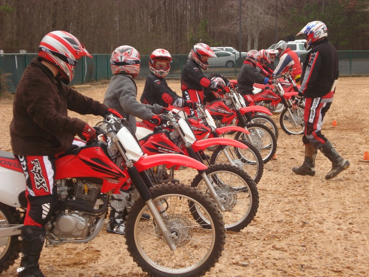 The Motorcycle Safety Foundation Honda Dirt Bike School in Alpharetta. My kids loved this!