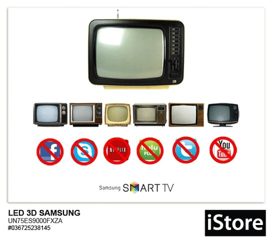 """Una de las ventajas que tienes con el Samsung Smart TV 75"""", es que puedes vivir en sociedad sin estar presente"""
