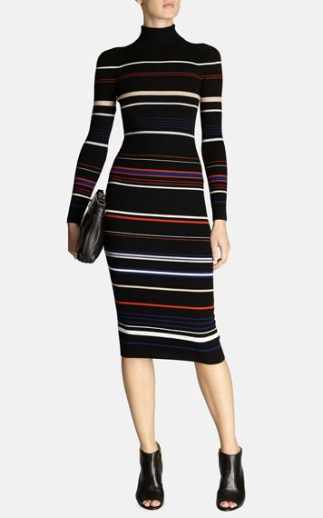 Clean stretch multi stripe dress