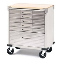 Ultra Heavy-Duty 6-Drawer Cabinet $189.98: Wood Tops, 6Drawer Storage, Boxes Cabinets, Drawers Rolls, 6 Drawers, Storage Cabinets, Chest Boxes, Cabinets Wood, Stainless Steel