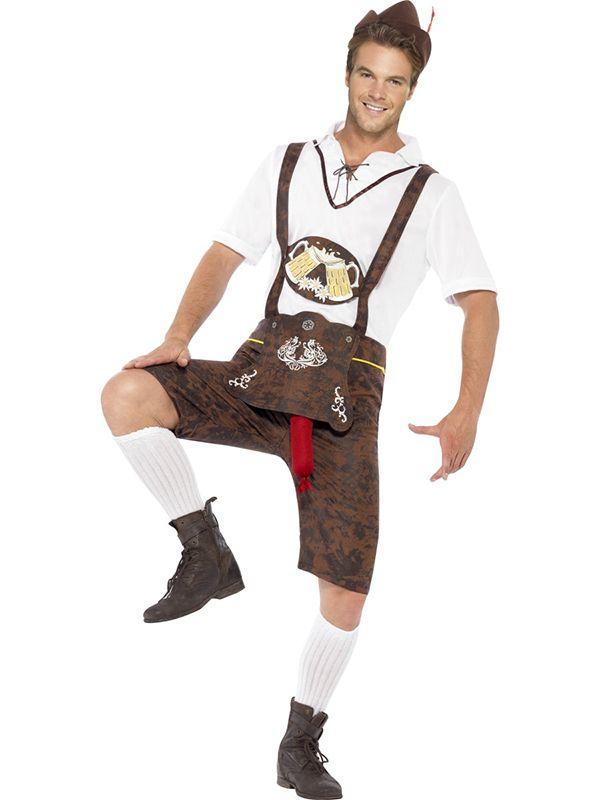 This Brad Wurst Bavarian Costume with Brown Lederhosen shorts, shirt & hat is a great Oktoberfest Fancy Dress Costume. http://www.novelties-direct.co.uk/Brad-Wurst-Bavarian-Costume.html
