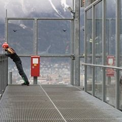 Richard Freitag of Germany at FIS Ski Jumping World Cup in Innsbruck