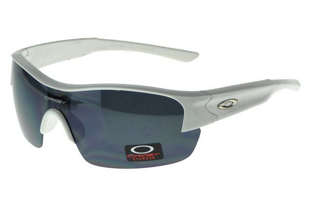 Wholesale Cheap Oakley Half Straight Jaquetas Silver Frame Gray Lens#Oakley Sunglasses