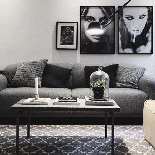 Sofa: www.sofacompany.com | posters @theposterclub | styling @scandinavianhomes | photo @tim.bohman Götgatan 25 for sale @fastighetsbyran_sodermalm by scandinavianhomes