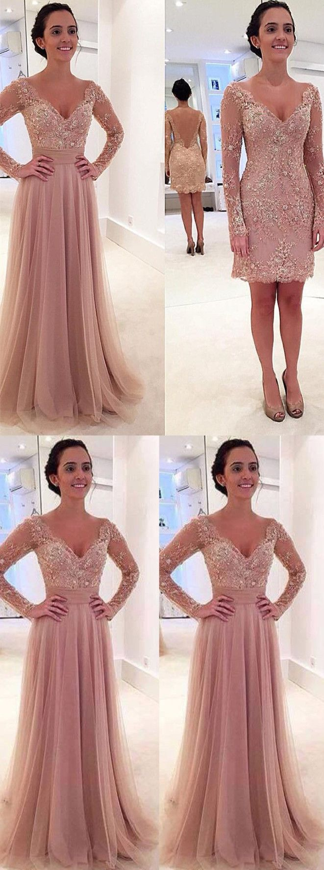 pink prom dresses,detachable  prom dresses,lace prom dresses,elegant prom dresses,2017 prom dresses @simpledress2480