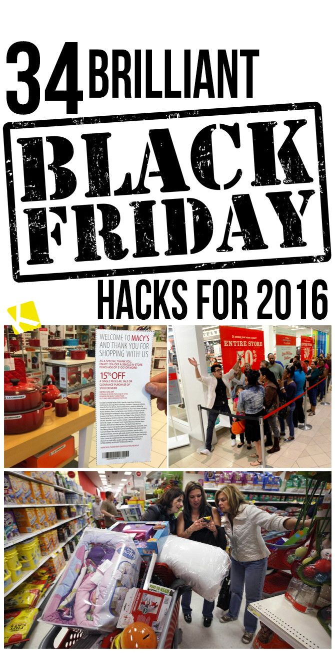 35 Brilliant Black Friday Hacks for 2016