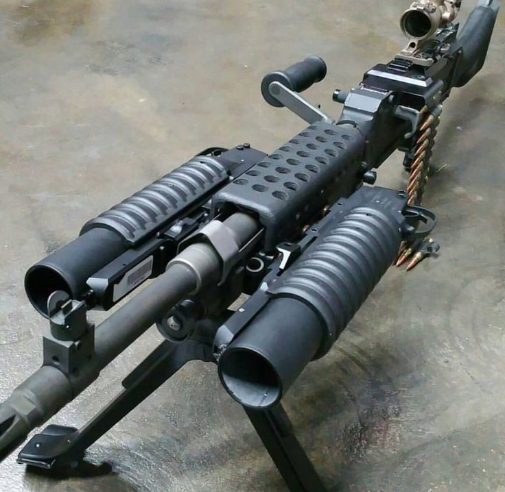 240 Bravo with 2 M203 Grenade launchers attached