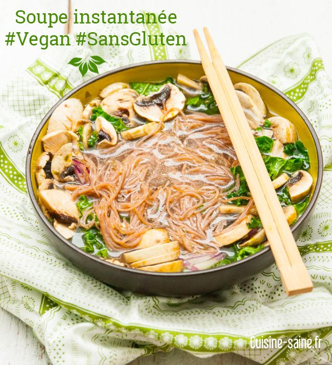 Soupe instantanée sans gluten