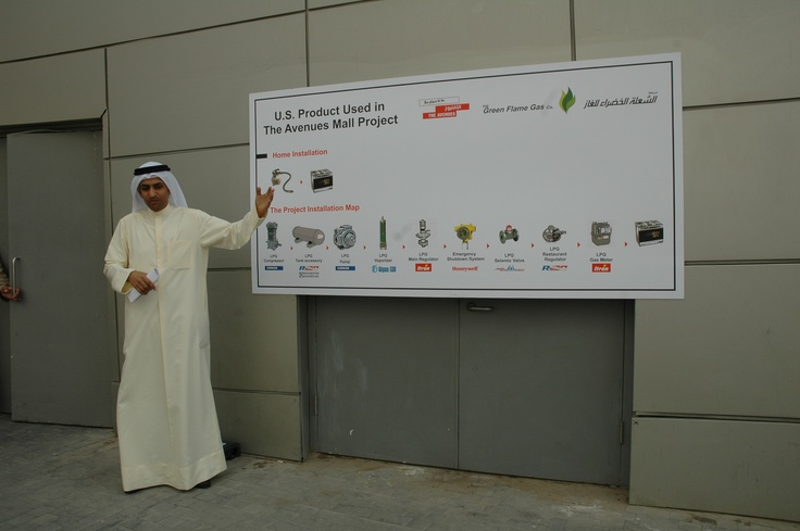The Green Flame Gas Co. Chairman during the tour