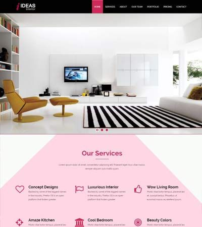Interior Design Free web template. #InteriorDesign #HTML5 #webdesign