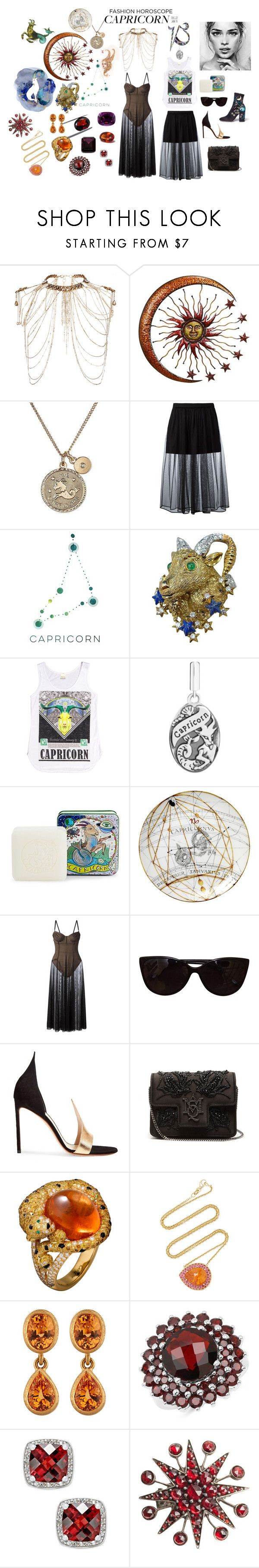 """Capricorn Garnet"" by sarahhughes-net ❤ liked on Polyvore featuring Erickson Beamon, Givenchy, Barcode Apparel, Pré de Provence, Norma Kamali, Tiffany & Co., Francesco Russo, Alexander McQueen, Lauren K and Malcolm Betts"
