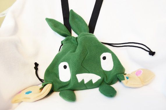 Pokemon Trubbish Purse Plush Bag Cosplay by CraftedCreatureShop