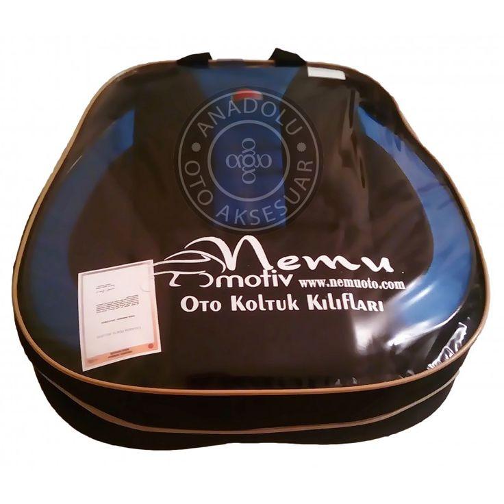 TR: Spor Döşeme Kılıfı Mavi Siyah Tescilli Tasarım Nemu EN: Car seat cover blue-black color. Sportive design.