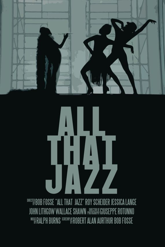 hall/stairwell Bob Fosse Movie Poster Set All That Jazz / Cabaret by FunnyFaceArt, $19.00