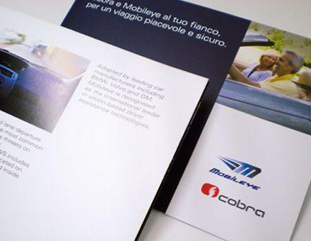 COBRA  (20/04/2009)  Cobra lancia Mobileye, sistema all'avanguardia nella sicurezza alla guida.  L'azienda internazionale di sistemi tecnologici per la gestione e prevenzione dei rischi associati ai veicoli lancia Mobileye, il nuovo sistema integrato di assistenza alla guida.  Vista la carica innovativa del prodotto, Carmi e Ubertis ha realizzato una campagna di comunicazione chiara e incisiva, veicolata da brochures di presentazione, advertising per la stampa e materiale per gli…