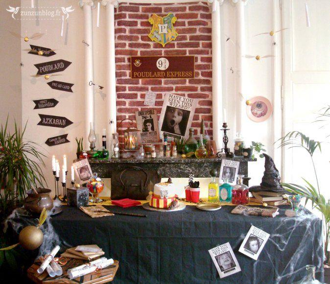 60 best anniversaire harry potter images on pinterest hogwarts cooking food and feta. Black Bedroom Furniture Sets. Home Design Ideas