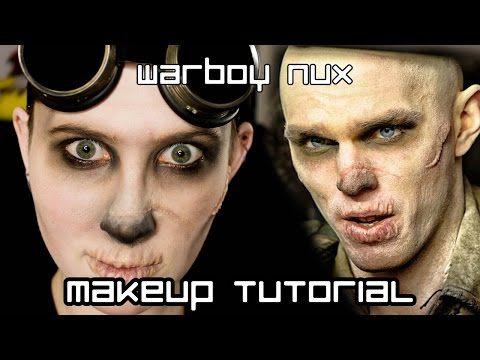 War Boy Nux ✦ Mad Max ✦ Makeup Tutorial ✦ Raised Scar SFX - YouTube
