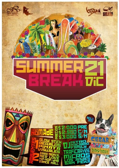 Afiche, Summer Break.