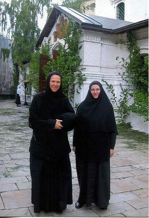В Сретенском монастыре с мон.Христиной из Австралии