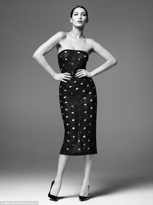 Fashion forward: The designer's new premium range features bodycon dresses, asymmetrical j...