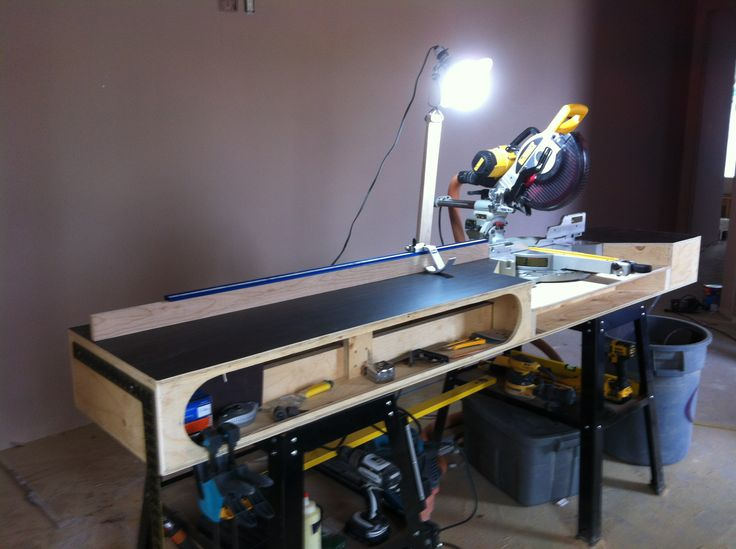 The Paulk Miter Stand built by Taylor #workbench #tools #woodworking #carpentry #diy   The Paulk ...