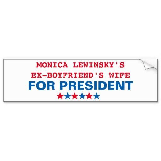 Hillary Clinton Monica Lewinsky Bumper Sticker