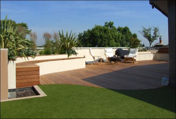 perfect putting green/deck... Sy's dream