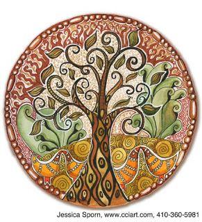 ❀∞~ Árbol de la Vida~∞❀   Jessica Sporn