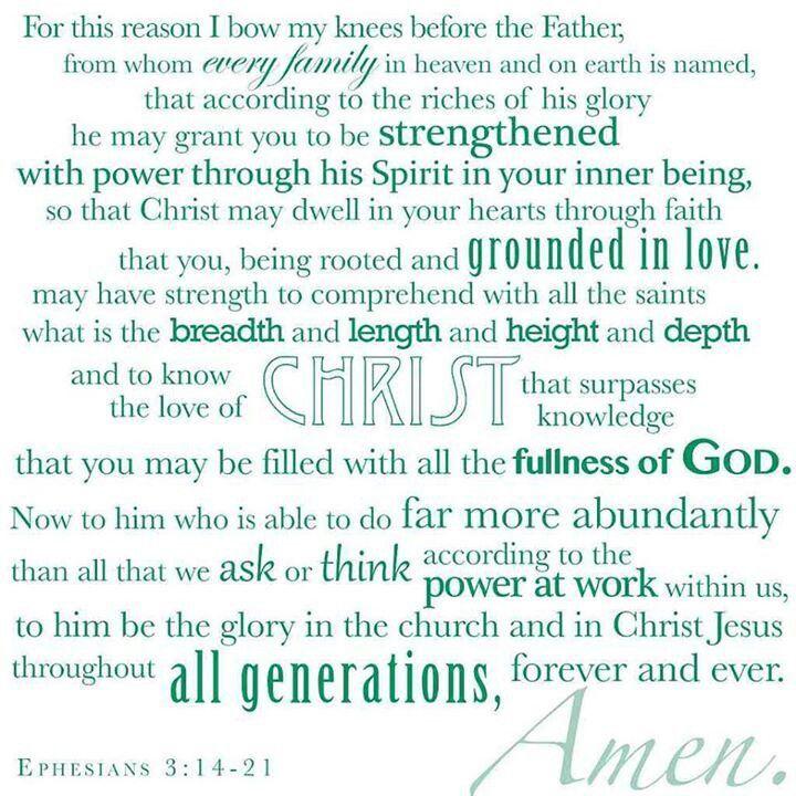 ephesians 3:14-21 niv - Google Search