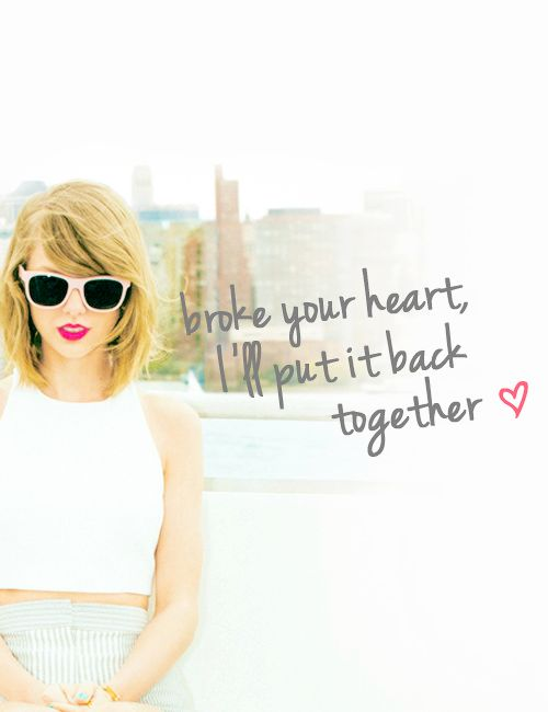 Lyrics to talyor swift