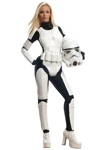 Join the ranks of the Galactic Empire's army this Halloween in this women's Star Wars Stormtrooper costume.