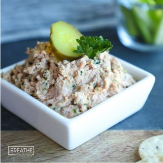 This easy deviled ham salad is my new keto solution to what to do with all this leftover ham! Low carb, paleo, dairy free and delicious! Did I mention easy?