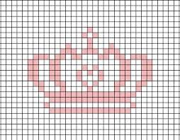 Crown cross stitch