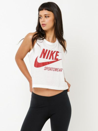 870c9645ad Nike W NSW Tank Crop GX Archive in White