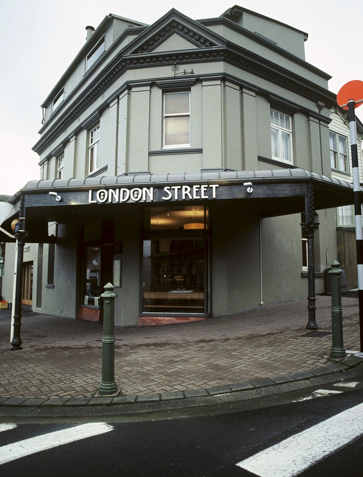 London Street Restaurant - a great old building but now gone in the February 2011 earthquake...a beauty while she lasted.