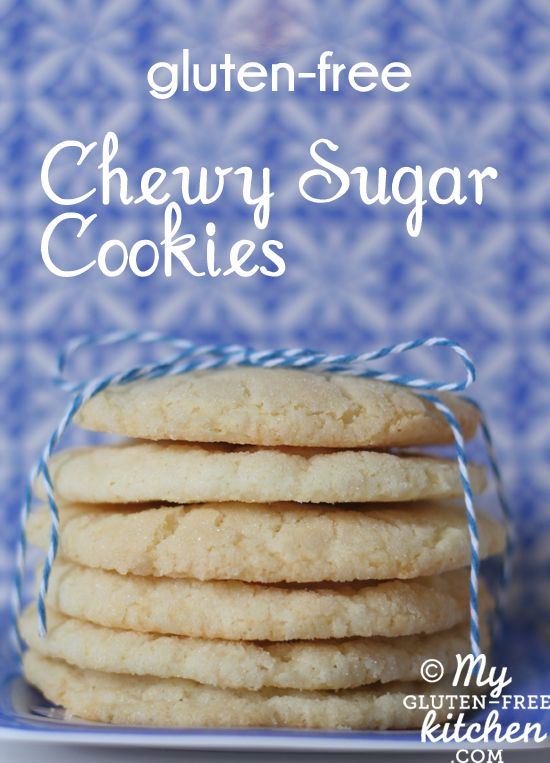 Chewy Sugar Cookies {Gluten-free} *Note: this cookie dough is so good, you are in danger of an expanding waistline from eating all the dough!