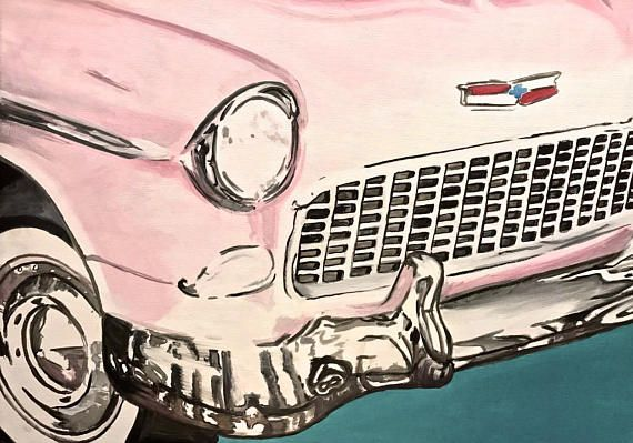 American Dream no.1 pink old timer chevrolet bel air