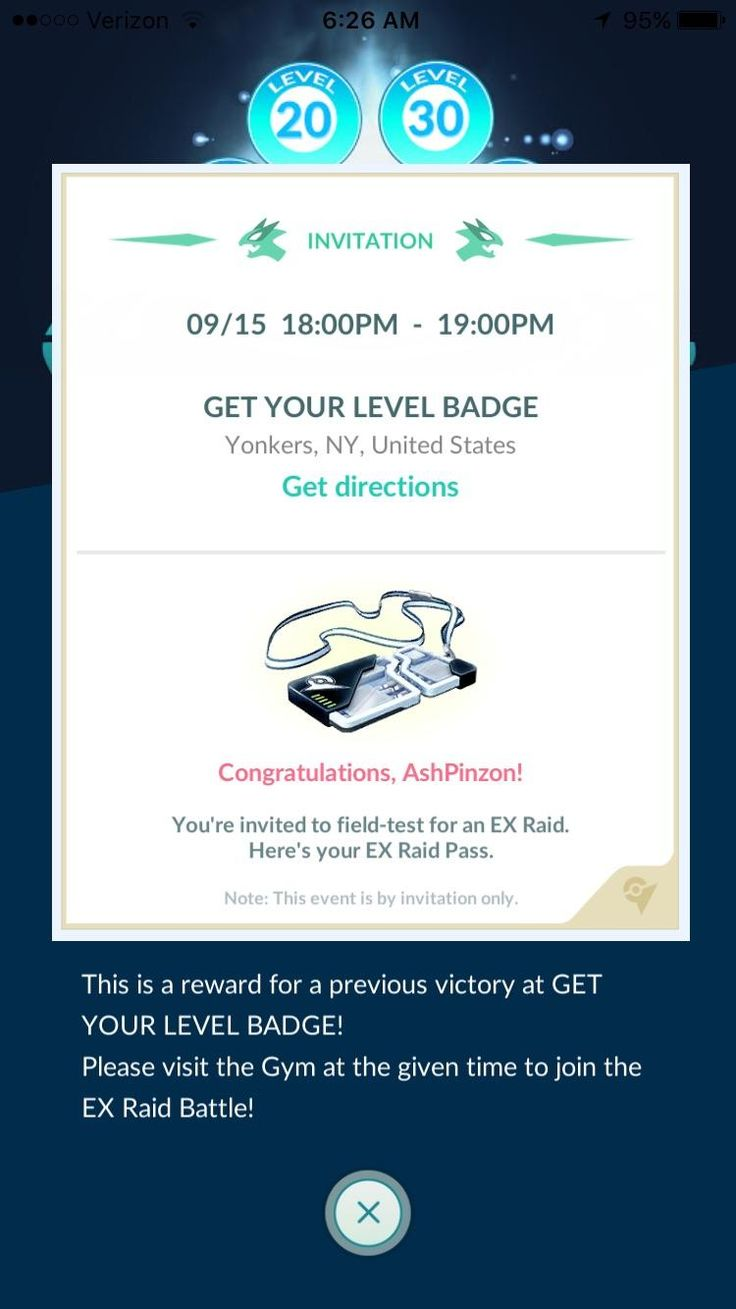 Got an EX raid pass. Haven't raided in that gym in more than a week. Anyone else seem to notice that these look like they are at mostly Sprint stores? Promo? Sucks that I have work at this time since they gave us short notice. Need to give us more than 48 hours Niantic. Some people work......