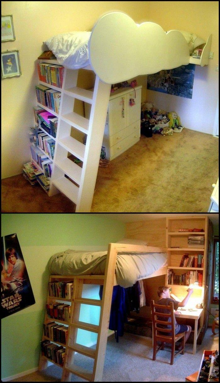 DIY Loft Bed 44 best Bunk Beds
