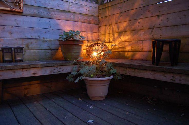 Rustic #garden lantern repurposed from #African fish-smoking basket. #Summer #patio