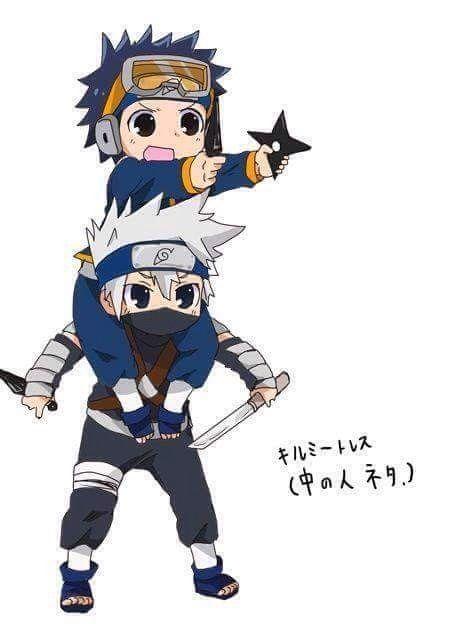 Little Obito and Kakashi