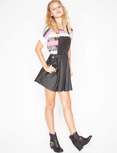 Lana leather pinafore dress