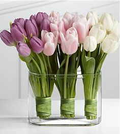 purple tulip centerpieces weddings - Google Search