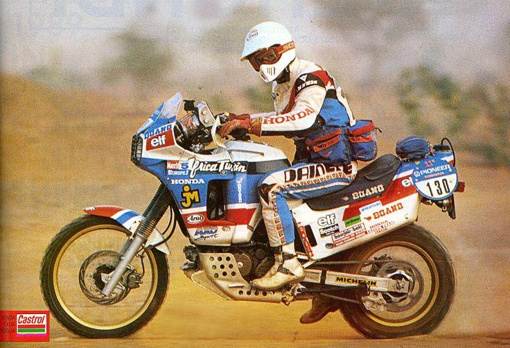 Roberto Boano Honda Africa Twin Marathon XRV 750 - Paris Dakar 1989