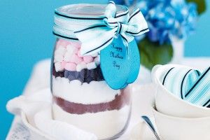 Quick-mix brownies in a jar