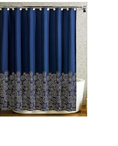 Navy Blue Fabric Shower Curtain Spring Home Http Www