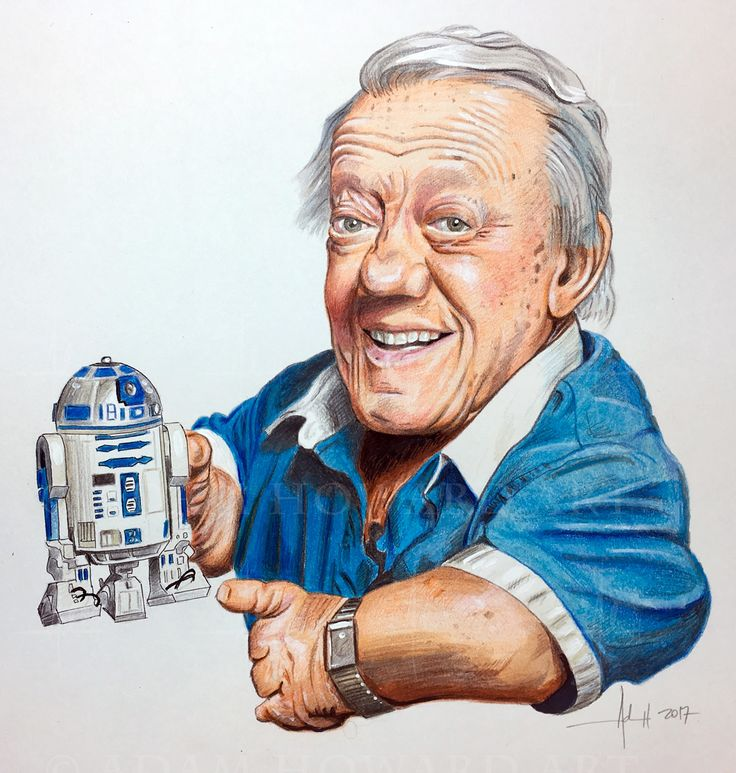 """KENNY BAKER  R2-D2 in Star Wars  Illustration © Adam Howard 2017 Medium is Color Pencil, Prismacolor Marker, Copic marker and acrylic paint on acid free Strathmore Drawing paper. Dimensions are 8"""" wide by 8"""" high  #adamhowardart #kennybaker #r2d2 #droid #astromechdroid  #maninthecan  #starwars  #theforce #usetheforce #timebandits #labyrinth #willow #theelephantman #flashgordon #movies #film #blockbuster #hollywood #adamhoward #illustration #portraits"""