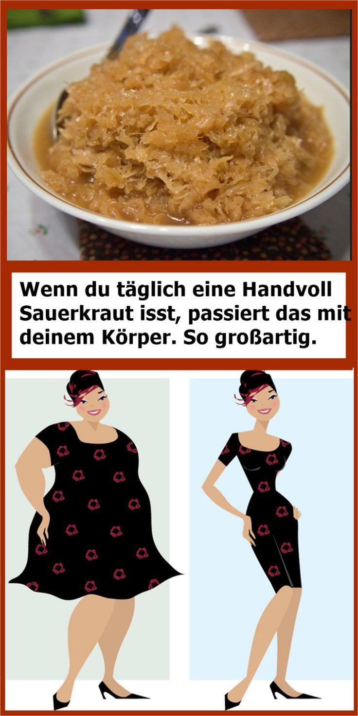 Wenn du täglich eine Handvoll Sauerkraut isst, passiert das mit deinem Körper….