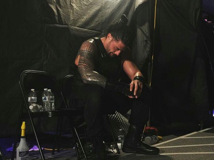 Roman Reigns backstage at WrestleMania